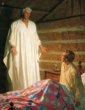 LDS Illustration of Moroni's Visit