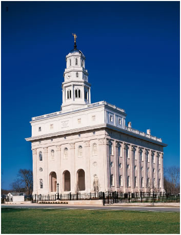 The modern Nauvoo Temple